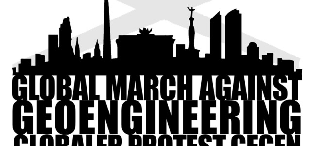 Globaler Protest gegen Geo-Engineering (Klima- und Wettermanipulation) in Berlin